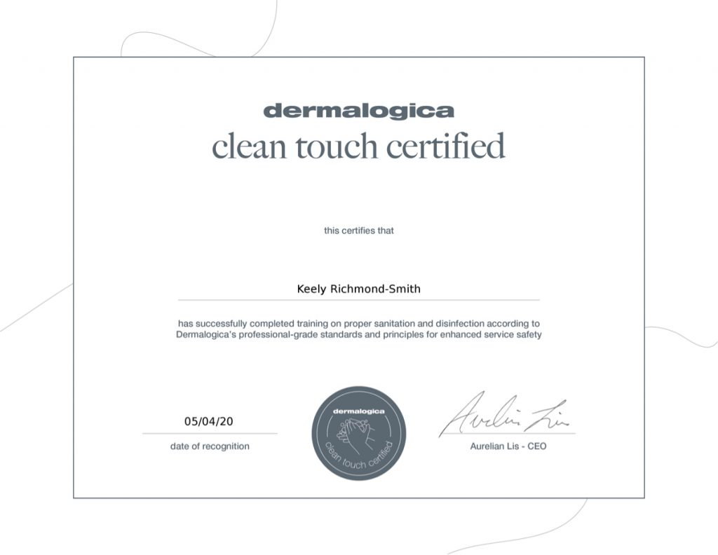 Dermalogica Clean Touch Certified